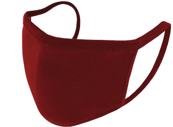 Reusable Face Mask - Burgundy - Pack of 5