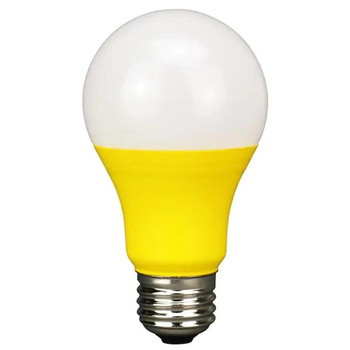 LED Colored Bulb - 5 Watt A-Bulb - Yellow/Bug Light