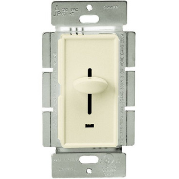 Incandescent / Halogen Dimmer Switch, Three Way, 700W, Slide Switch, Light Almond
