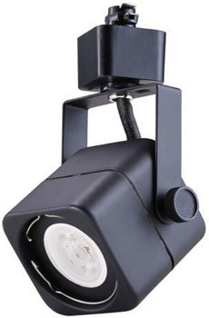 7W LED Dimmable Square Track Head, Black, 3000K
