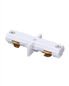 Mini Track Light Straight Connector, White
