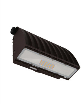 30W LED Adjustable Wall Pack, 120-277V, 5000K, Bronze