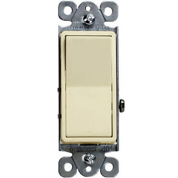 15 Amp Decorator Switch, Single Pole, Residential Grade, 120/277V, Almond