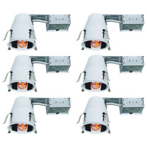 4 Inch Remodel Housing - LED TP24 Connector - IC Rated - Pack of 6