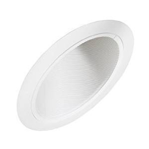 6 Inch - Sloped Metal Baffle Trim - White