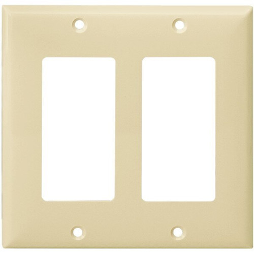 Decorator Wall Plate - Ivory - 2 Gang