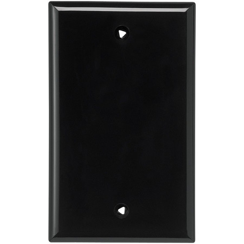 Decorator Wall Plate - Black - Blank - 1 Gang