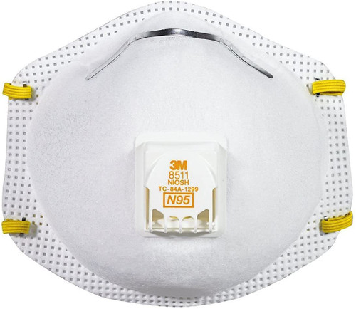 3M 8511 NIOSH N95 Particulate Respirator - Pack of 10