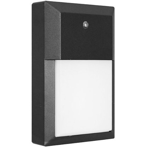 12W LED Wall Pack, 1000 Lumens, Daylight 5000K, Replaces 50W Metal Halide, integrated Photocell, 120V