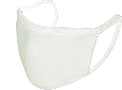 Reusable Face Mask - White - Pack of 5