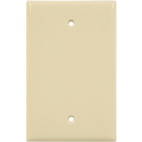 1-Gang Blank Wall Plate, Mid-Size, Almond