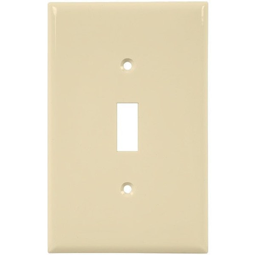 1-Gang Toggle Switch Wall Plate, Mid-Size, Almond