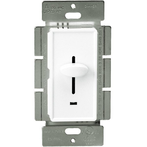 Incandescent / Halogen Dimmer Switch, Three Way, 700W, Slide Switch, White