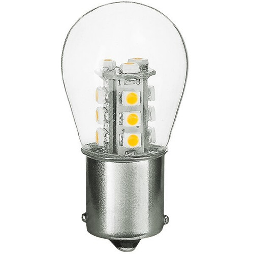 1156/1141/1003 1.5W LED S8 Bulb, Low Voltage 12V, Single Contact, BA15S Base, 3000K