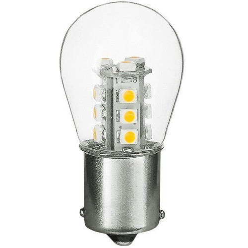 1156/1141/1003 1.5W LED S8 Bulb, Low Voltage 12V, Single Contact, BA15S Base, 3000K, 10 Pack