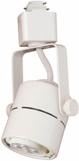 7W LED Dimmable Round Track Head, White, 3000K