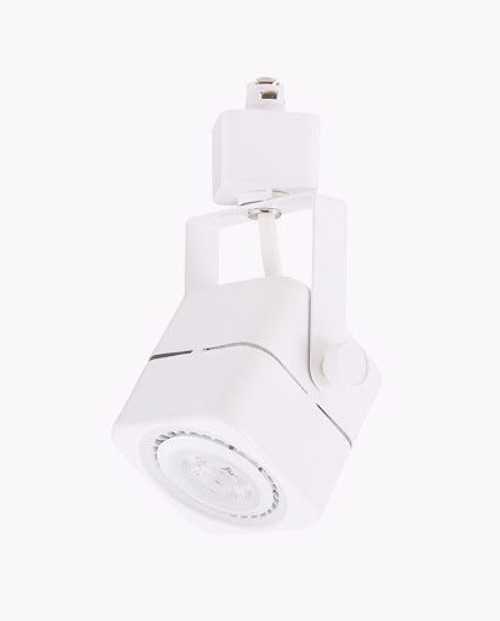 7W LED Dimmable Square Track Head, White, 3000K