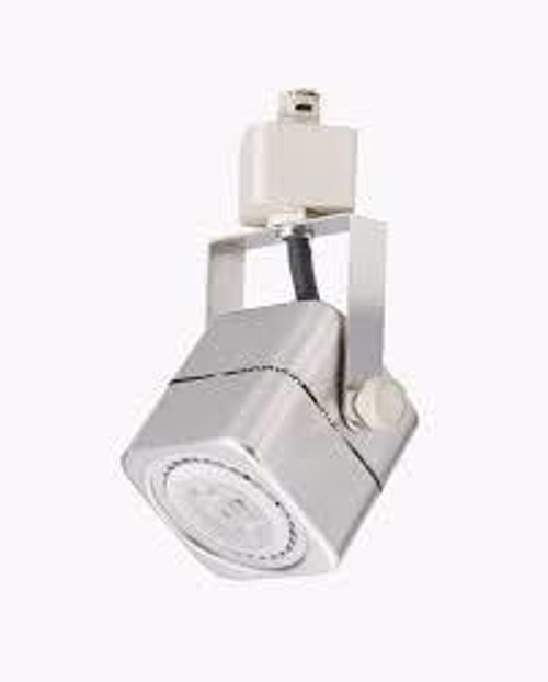 7W LED Dimmable Square Track Head, Nickel Satin, 3000K