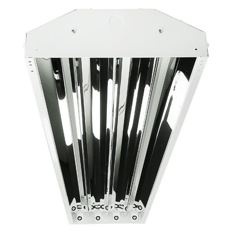 4 Lamp LED Ready High Bay - Non-Shunted Sockets Included - 18W LED Tubes Included - 9400 Lumens