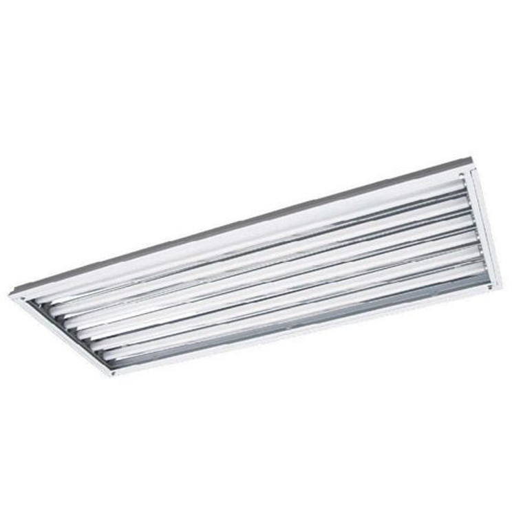 8 Lamp - LED Ready High Bay - Operates 8 T8 Lamps Included - 18W LED Tubes Included - 18,800 Lumens
