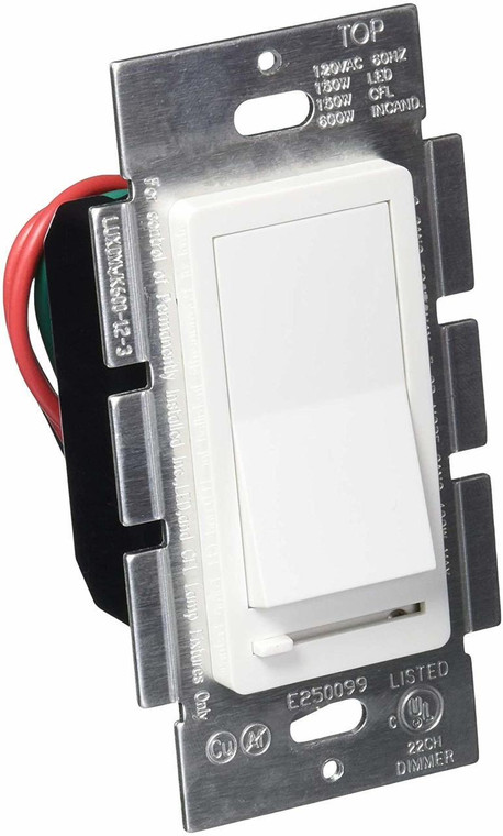 LED Wall Dimmer Switch for LED Lights, Three Way and Single Pole, 150W LED Compatible, 600W CFL Incandescent, Rocker Switch and Slide Dimmer, 120V, White