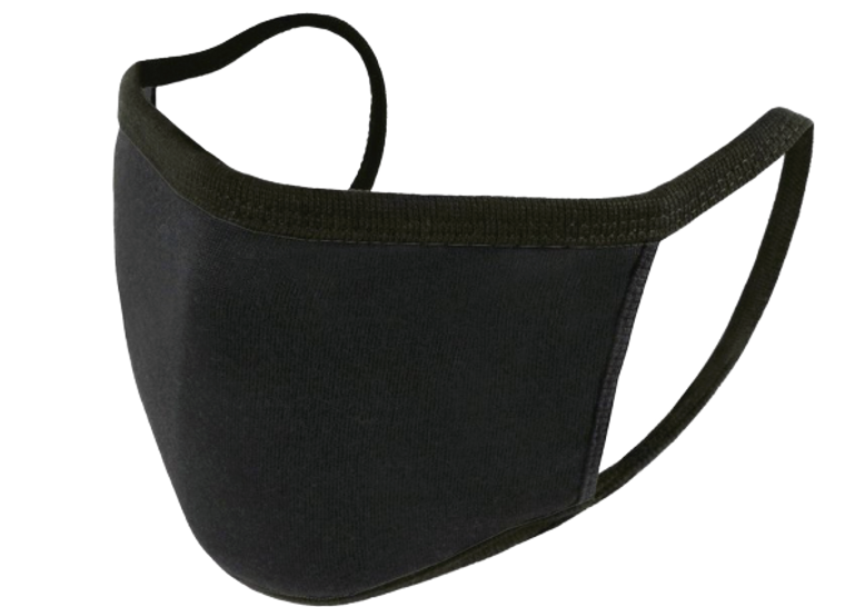 Reusable Face Mask - Black - Pack of 5