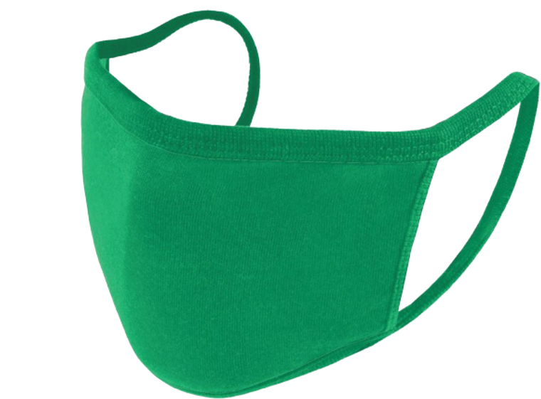 Reusable Face Mask - Green - Pack of 5