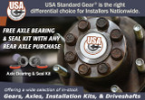 Free axle bearings and seals with USA Standard rear axle shaft purchase!