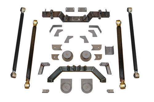 "TJ Pro Series Rear Long Arm Upgrade Kit W/7"" Double Triangulated Stretch Clayton Offroad"