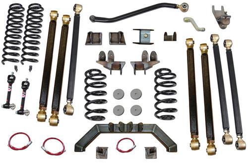 """TJ 4.0"""" Pro Series 3 Link Long Arm Lift Kit Clayton Offroad"""