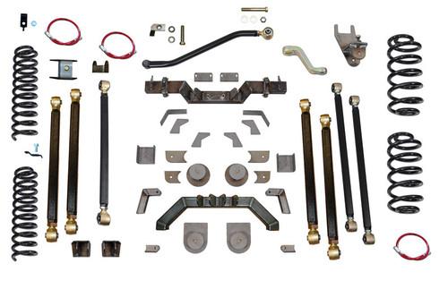 """TJ 5.5"""" Pro Series 3 Link Long Arm Lift Kit W/Rear 7"""" Stretch Clayton Offroad"""