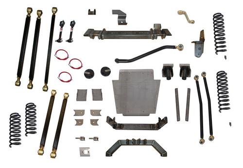 """XJ  8.0"""" Pro Series 3 Link Long Arm Lift Kit W/Rear Coil Conversion Clayton Offroad"""