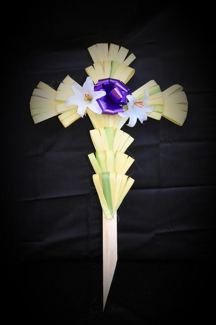 """Medium Decorated Palm Cross 24"""" x 12"""""""