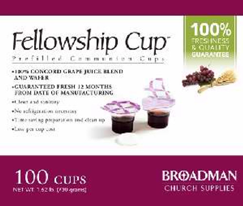 Communion-Fellowship Cup Prefilled Juice/Wafer (Box Of 100)