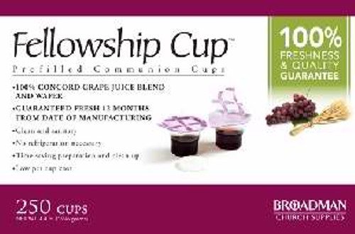 Communion-Fellowship Cup Prefilled Juice/Wafer (Box Of 250)