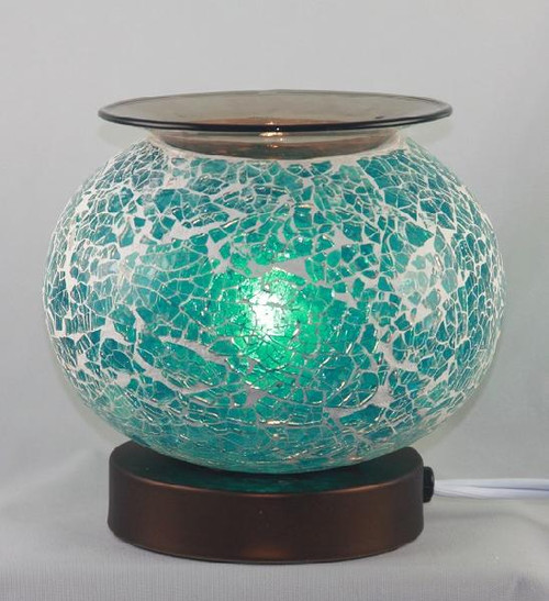 Blue Crackle Glass