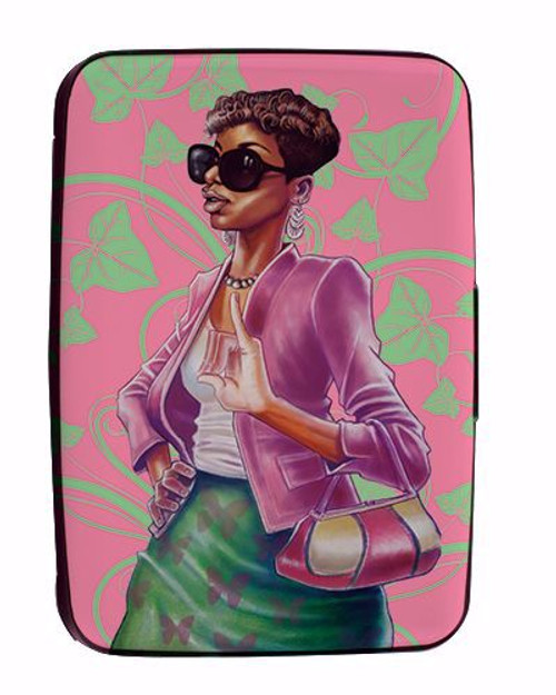 Pink and Green Credit Card Holder