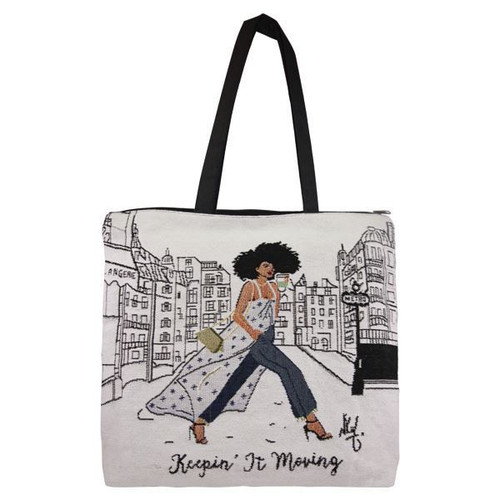 Keepin'  It Moving Woven Tote Bag