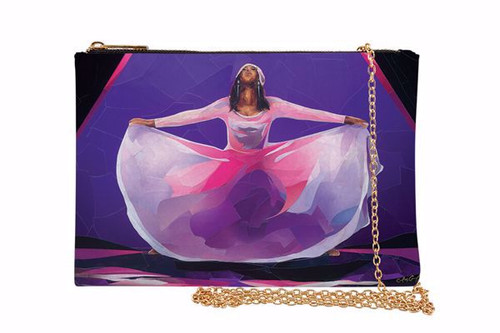 Pink and Purple Praise Dancer Chain Purse