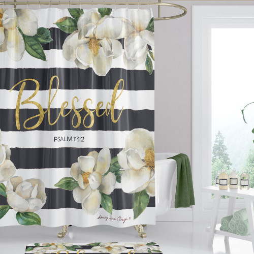 Blessed Magnolia Shower Curtain