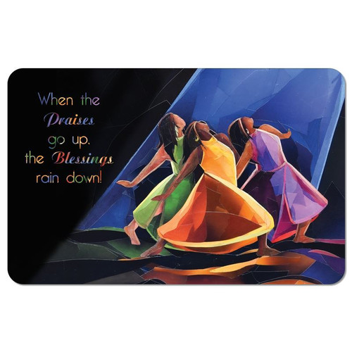 Praises Go Up Floor Mat