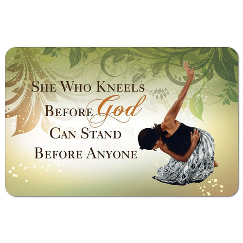 She Who Kneels Floor Mat