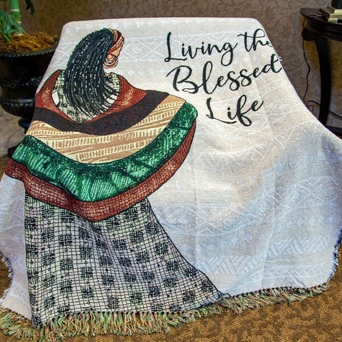 Blessed Life Tapestry Throw Blanket