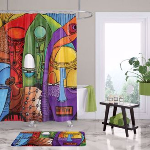 Jazz Masks Shower Curtain