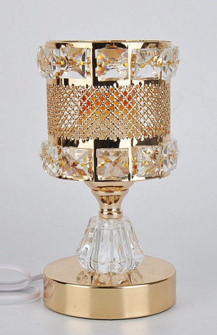 Gold and Crystal Round Electric Burner