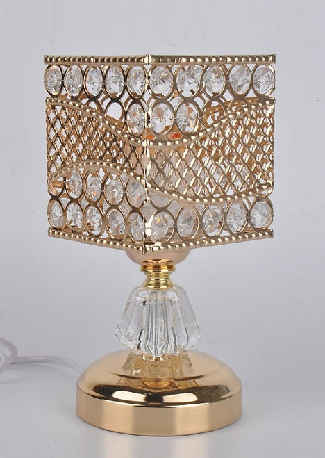 Gold and Crystal Square Electric Oil Burner