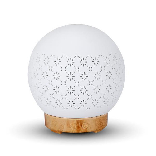 Pottery Ball Shape Diffuse with Floral Pattern