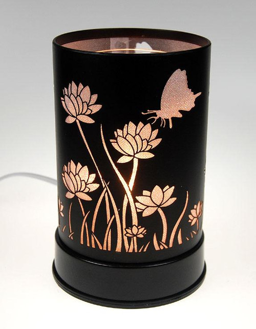 Butterfly and Flowers Touch Oil Burner