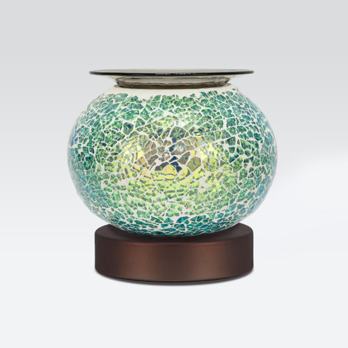 Electric Blue Crackle Glass