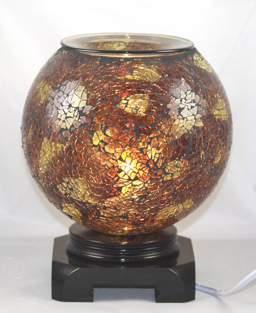 Electric Oil Burner - Brown Globe
